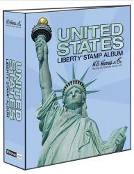 HE Harris Stamp Album Traditional US Liberty Binder (3-inch, 2-post)