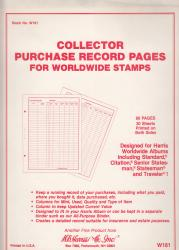 HE Harris Stamp Album Pages  -- World Purchase Records