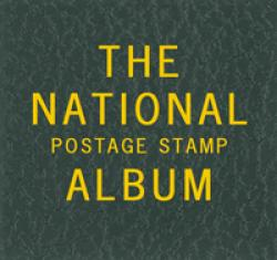 Scott National Series Green Binder Label: The National Postage Stamp Album