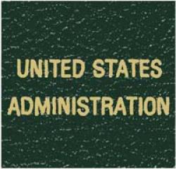 Scott National Series Green Binder Label: US Administration