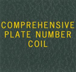 Scott National Series Green Binder Label: US Comprehensive Plate Number Coils