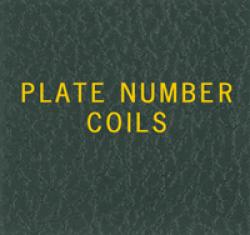 Scott National Series Green Binder Label: US Plate Number Coils