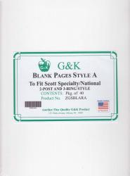 G&K Blank Pages -- Style A -- Scott Specialty/National Albums