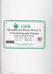 G&K Quadrilled Pages -- Style A -- Scott Specialty/National Albums