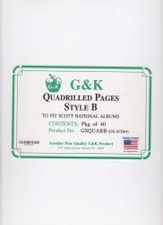 G&K Quadrilled Pages -- Style B -- Scott Specialty/National Albums