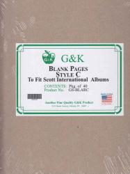 G&K Blank Pages -- Style C -- Scott International Albums