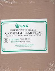 G&K Crystal Clear Interleaving -- Scott International Albums