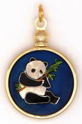 Hand Painted China Dragon and Panda Pendant