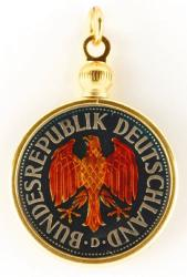 Hand Painted Germany 1 Mark Eagle Pendant