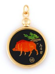 Hand Painted Chinese Year of the Boar Pendant (1935, 1947, 1959, 1971, 1983, 1995, 2007, 2019)