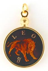 Hand Painted Leo Pendant (Jul 23 - Aug 22)