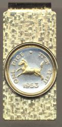 Gold on Silver India 1 Pice Horse Hinge Money Clip