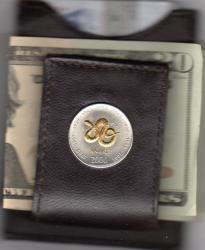 Gold on Silver Somalia 10 Shillings Snake Folding Money Clip