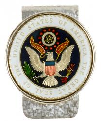 Hand Painted Presidential Seal Medallion Money Clip