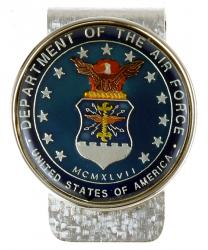 Hand Painted Air Force Commemorative Medallion Money Clip