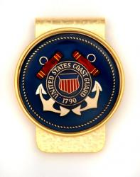 Hand Painted Coast Guard Money Clip