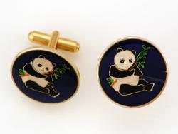 Hand Painted China Panda Cuff Links