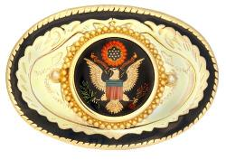Hand Painted Presidential Seal Belt Buckle